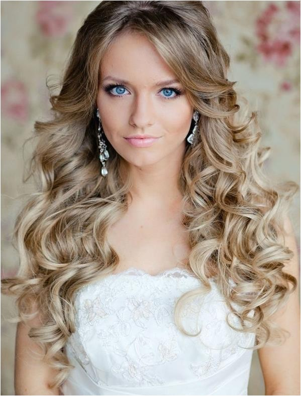 hairstyles for long hair bridesmaid