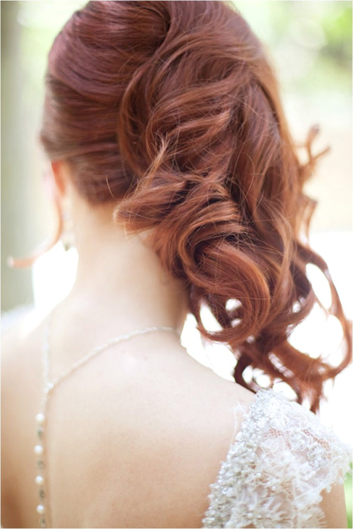Hairstyles for Weddings to the Side Side Swept Wedding Hairstyles to Inspire Mon Cheri Bridals