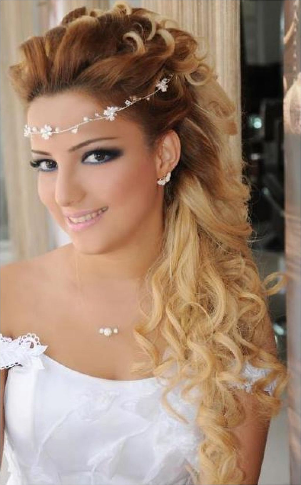 wedding hairstyles for long hair down with headband