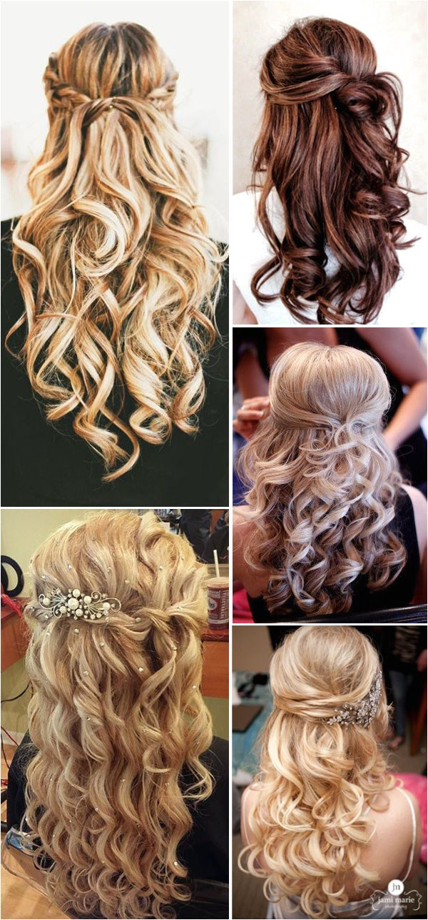 20 awesome half up half down wedding hairstyle ideas s