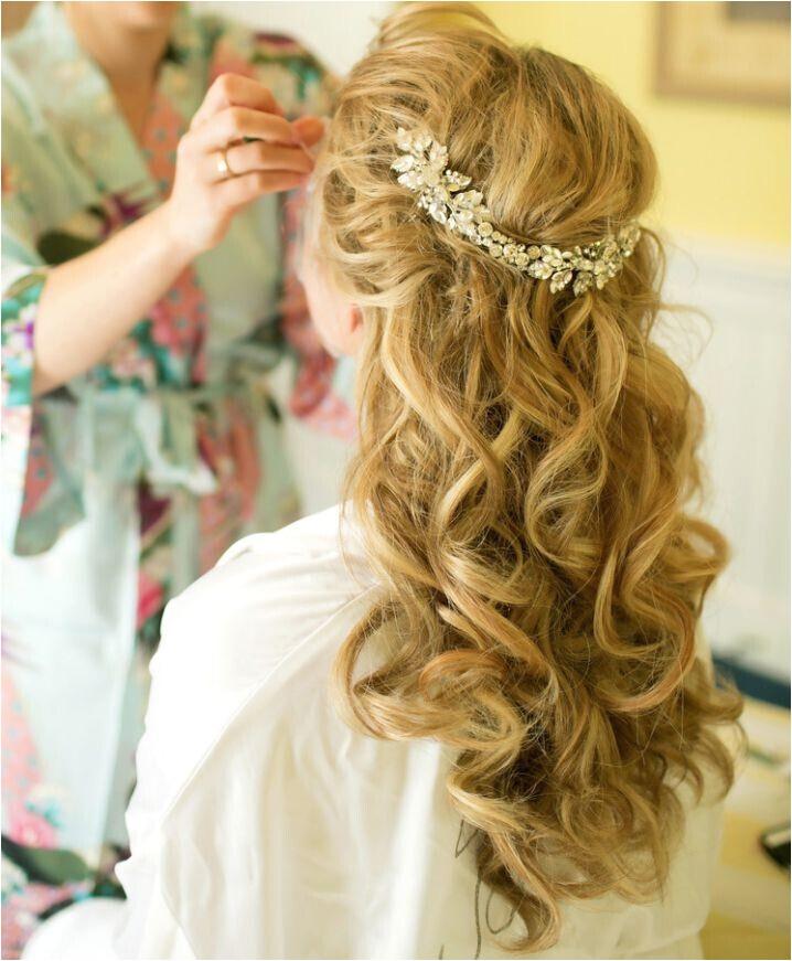 latest half up half down wedding hairstyles for trendy brides