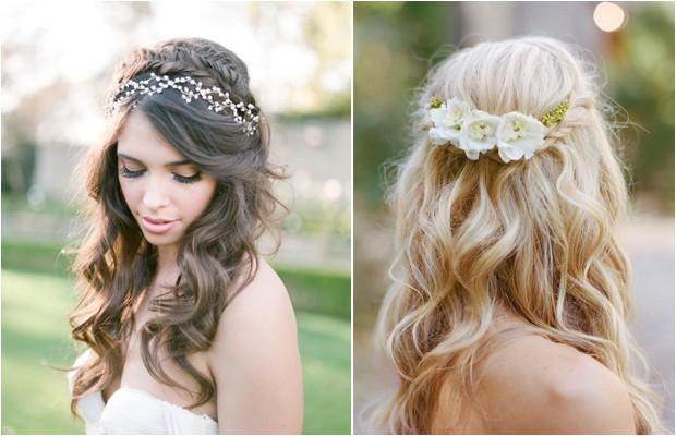 10 gorgeous half up half down wedding hairstyles with braids