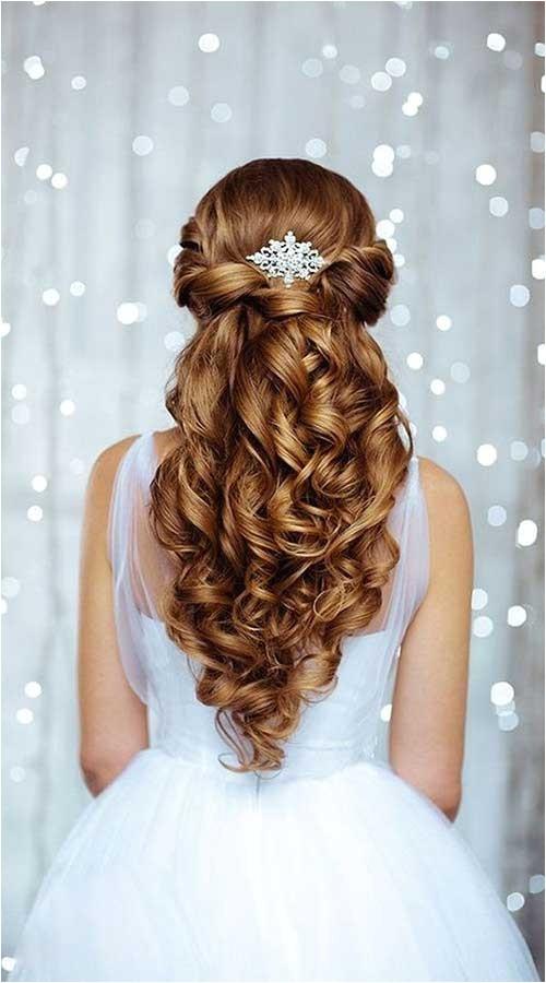25 elegant half updo styles weddings