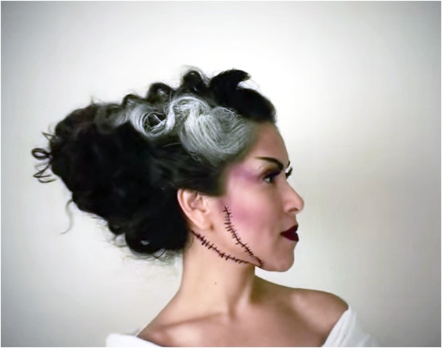 scary creative halloween hairstyles