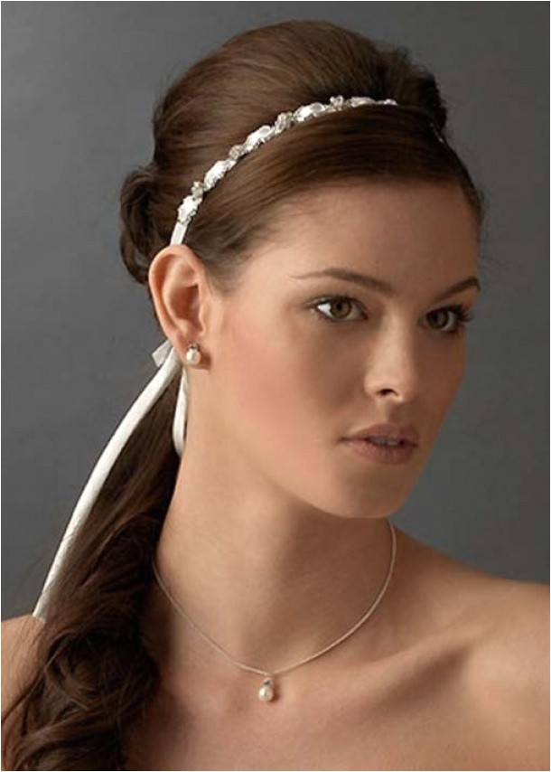 bridal hairstyles with headbands for