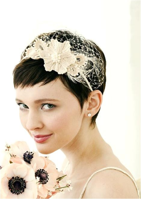 stylish short wedding hairstyles with headband