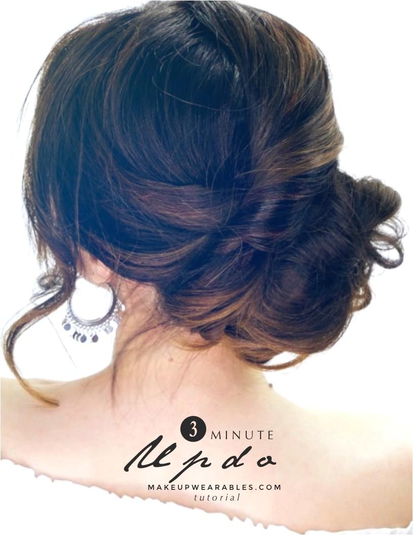 3 minute elegant side updo everyday easy hairstyles