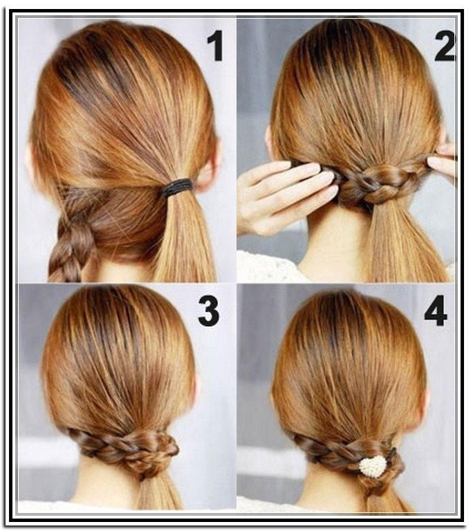 fashionable and easy updos for long hair
