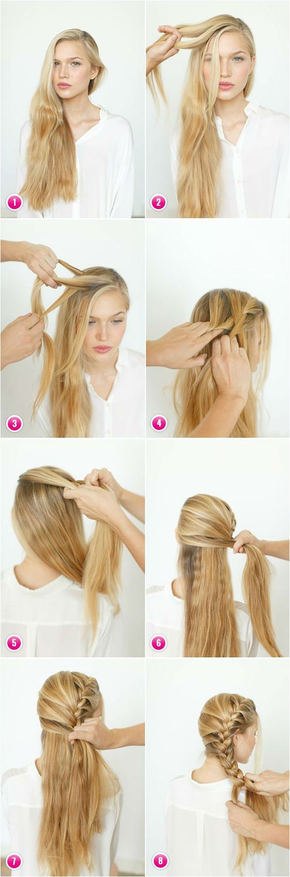 easy braids for long hair to do yourself