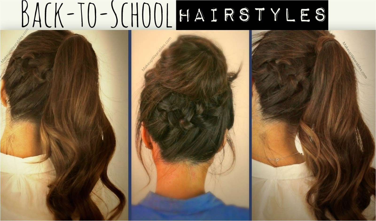 cute school hairstyles updos with