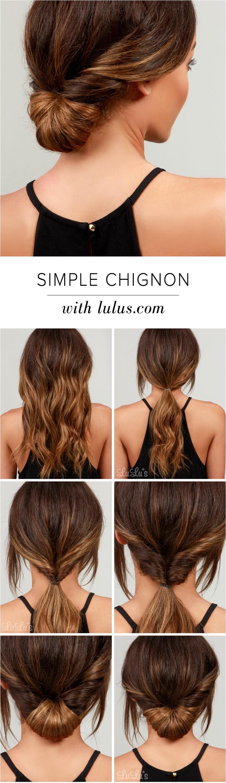 lulus how to simple chignon hair tutorial