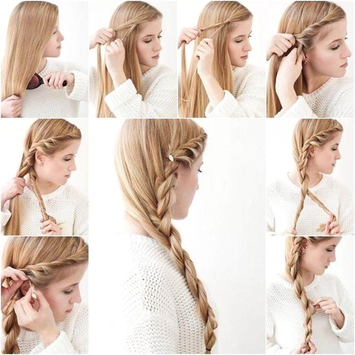 side braid hairstyle tutorial