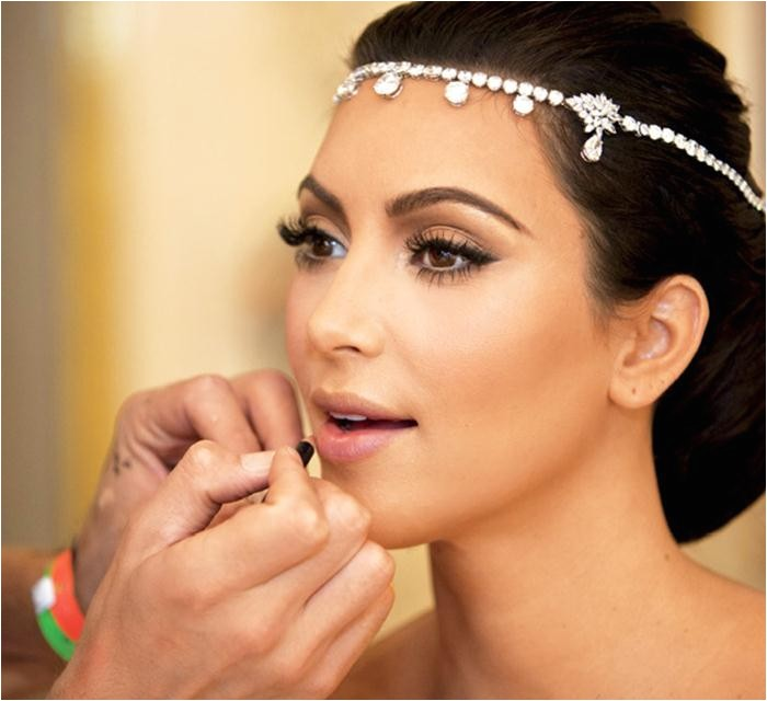 kim kardashian hairstyles wedding