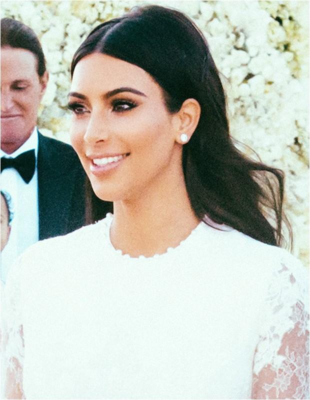 how to kim kardashians wedding hair