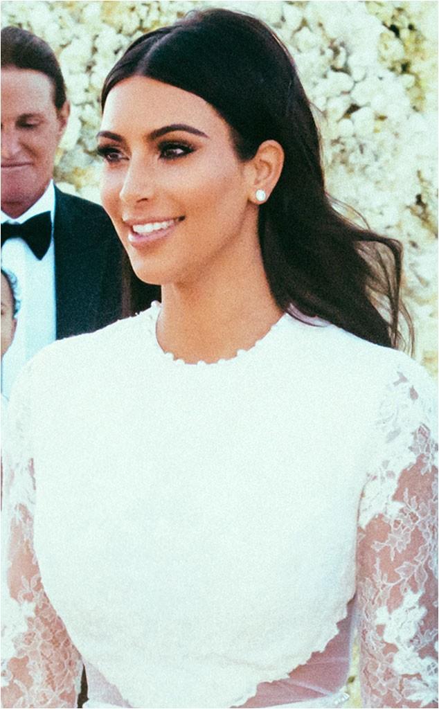 kim kardashian wedding hairstyles