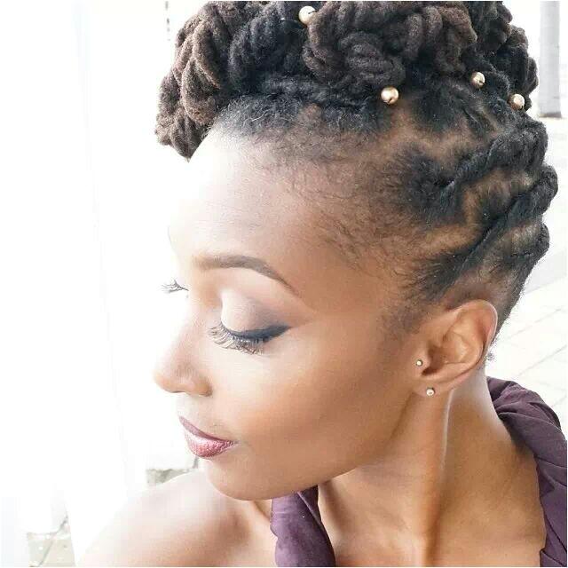 stunning wedding day hair locs and braids
