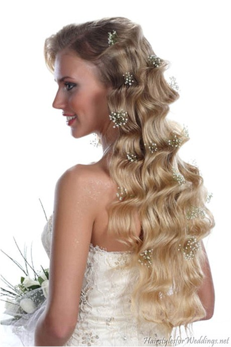long curly hairstyles for weddings