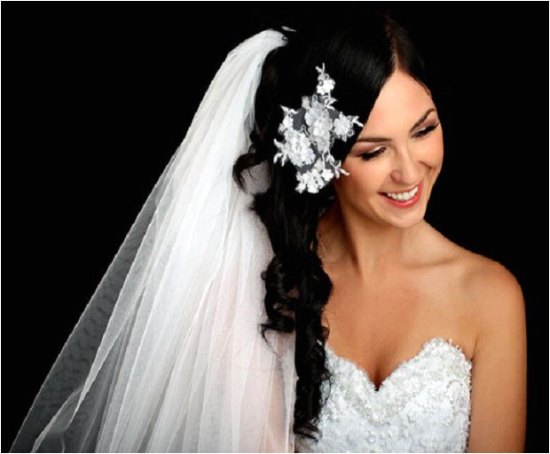 Long Hair with Veils Wedding Hairstyles Bridal Hairstyles with Long Veils She Said