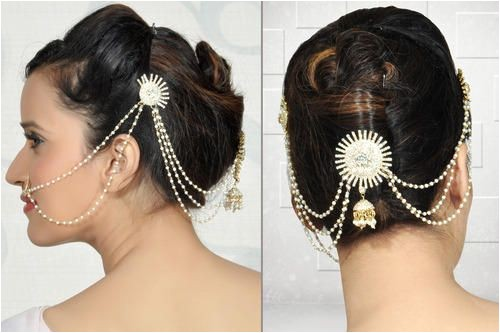 Low Bun Hairstyles for Indian Weddings 1