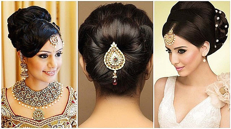 low bun hairstyles for indian weddings