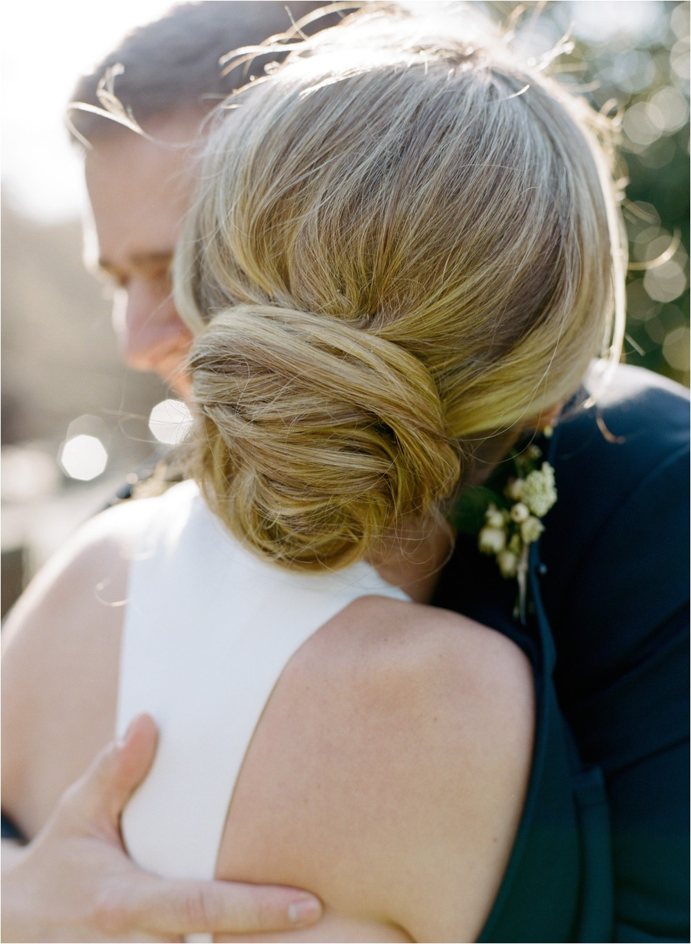 romantic low bun wedding hairstyles 2017
