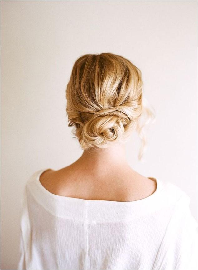 bridal hair low loose