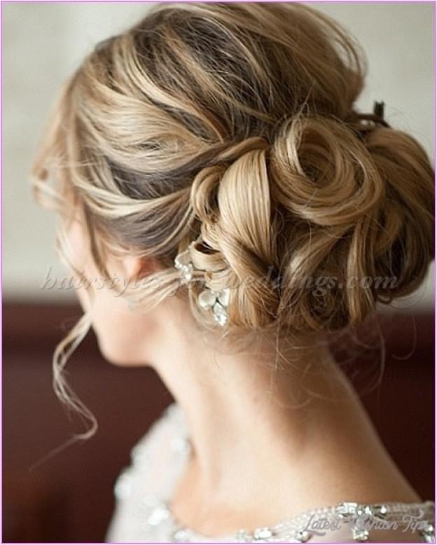 bridal hairstyles low bun