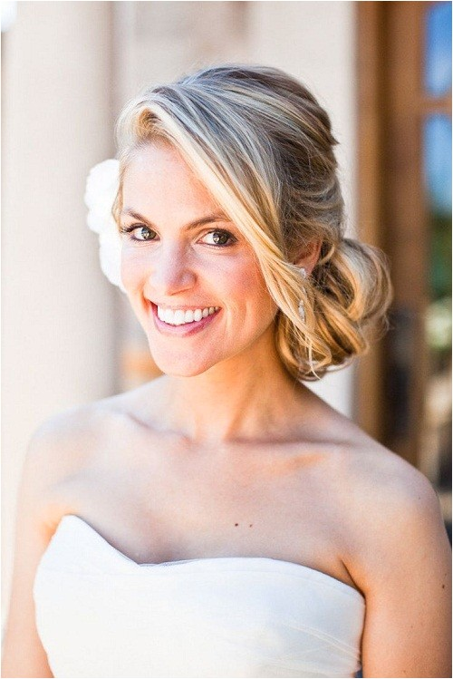beautiful low side bun hairstyles for weddings