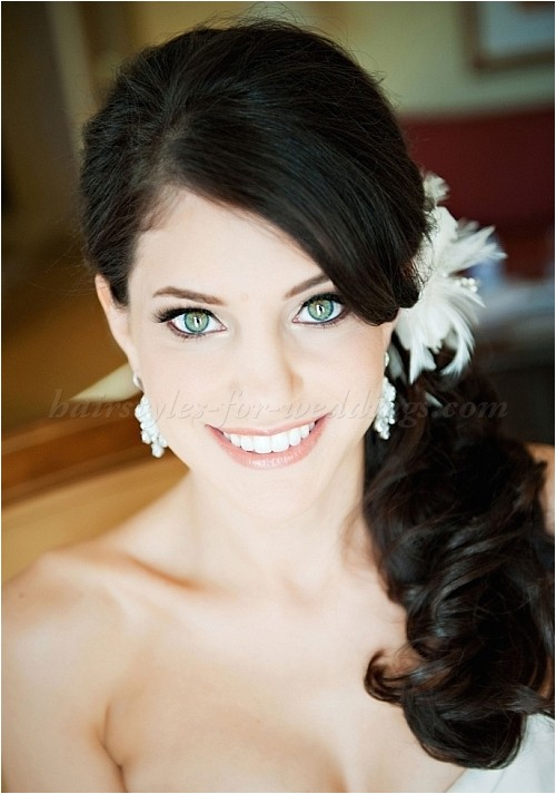low ponytail hairstyles for weddings