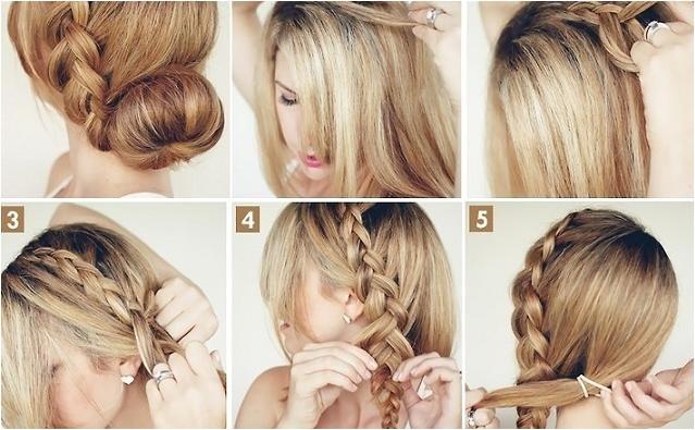 make big braided bun elegant hairstyle