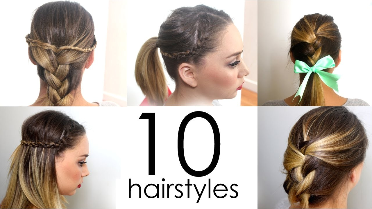 how to do cool easy hairstyles for school