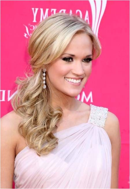 hairstyles for one shoulder dress