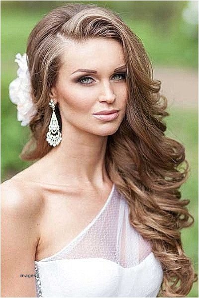 curls to one side wedding hairstyles