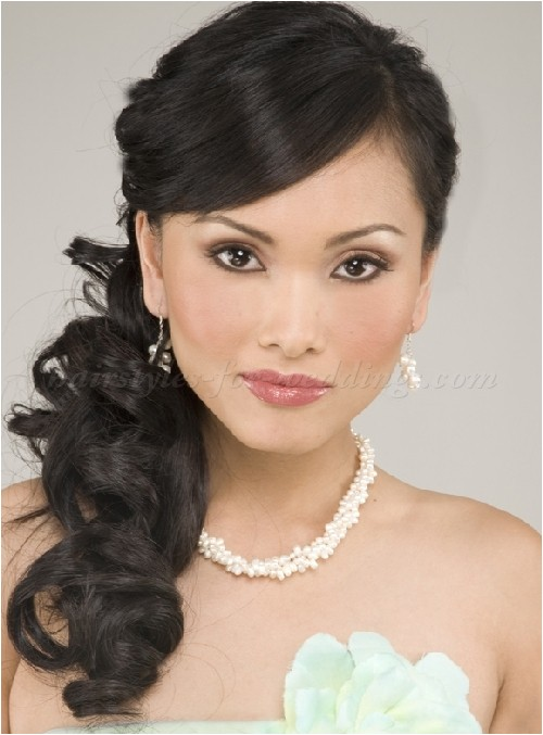 wedding hairstyles side ponytail
