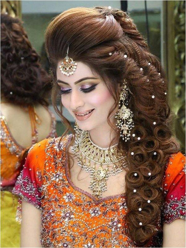 pakistani bridal hairstyle 2016 mehndi ceremony