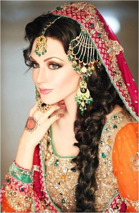 pakistani wedding hairstyles long hair