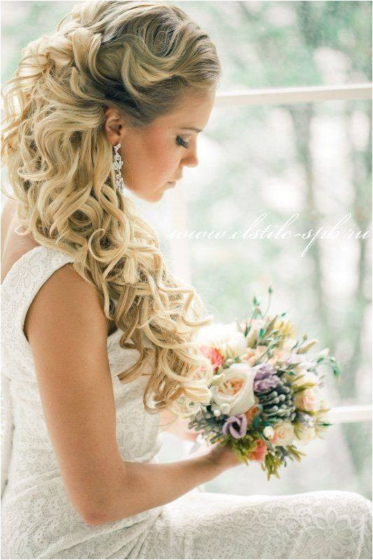 most pretty hairstyles for weddings via elstile