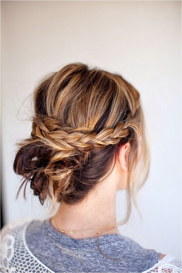 20 easy and chic updo hairstyles for medium hair
