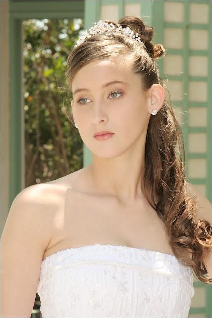 princess bridal hairstyles with crown