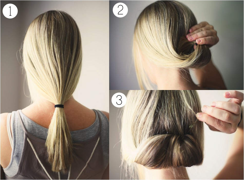 hair tutorial ponytail roll
