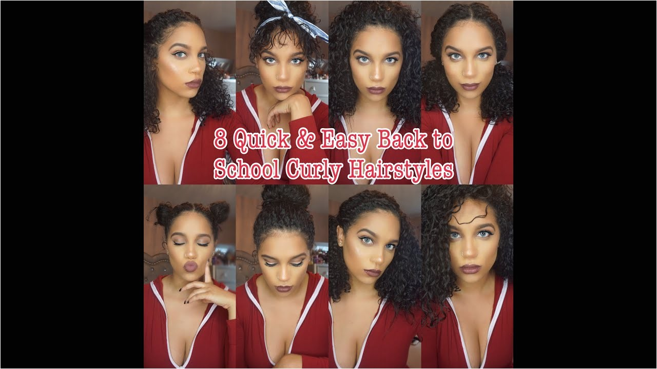 Quick and Easy Hairstyles for Curly Hair for School 8 Curly Hairstyles Curly Hair Routine