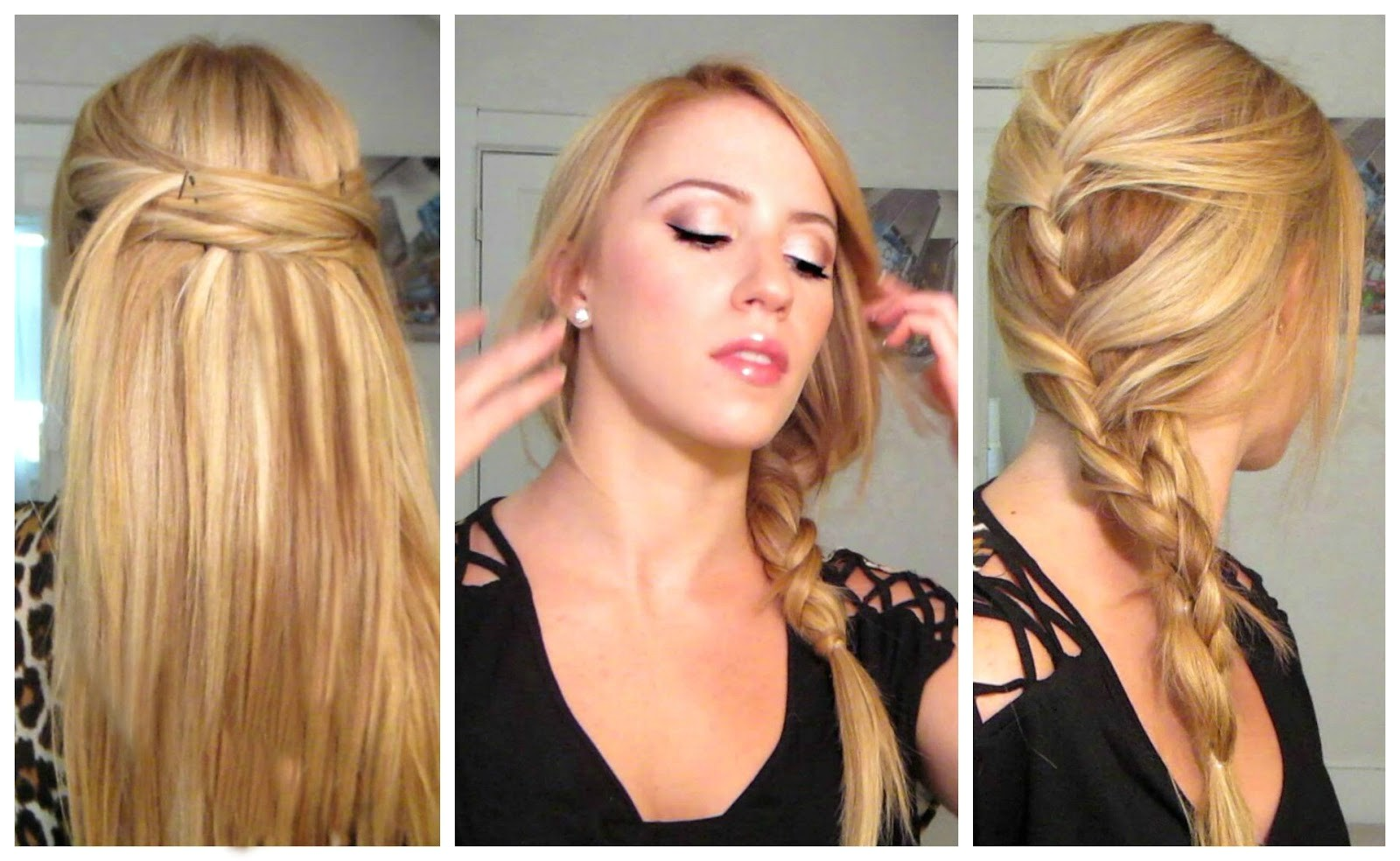 easy quick heat less hairstyles