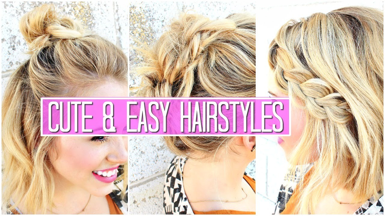 cute easy hairstyles for short layered hair