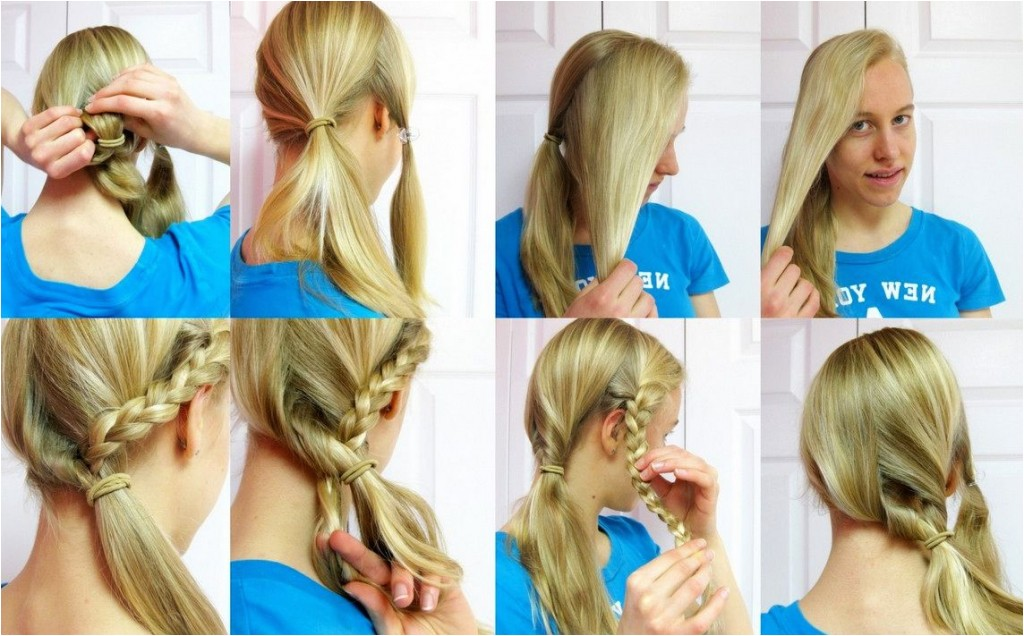 easy hairstyles for straight long hair