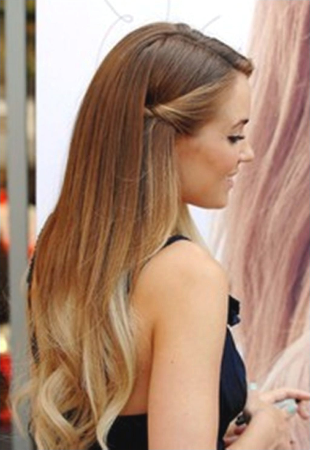 easy straight hairstyles