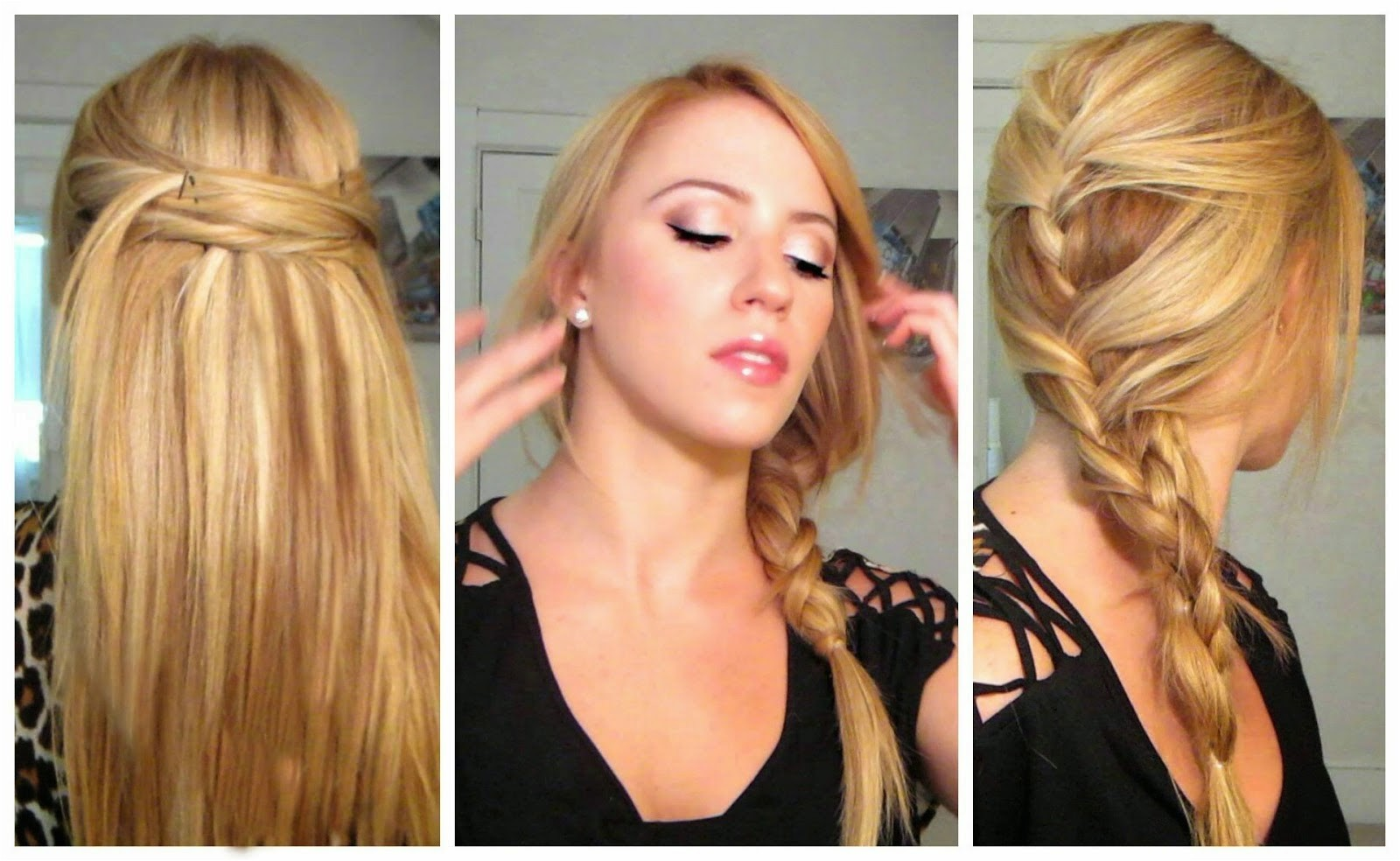 quick and easy hairstyles for long hair straight hair 2