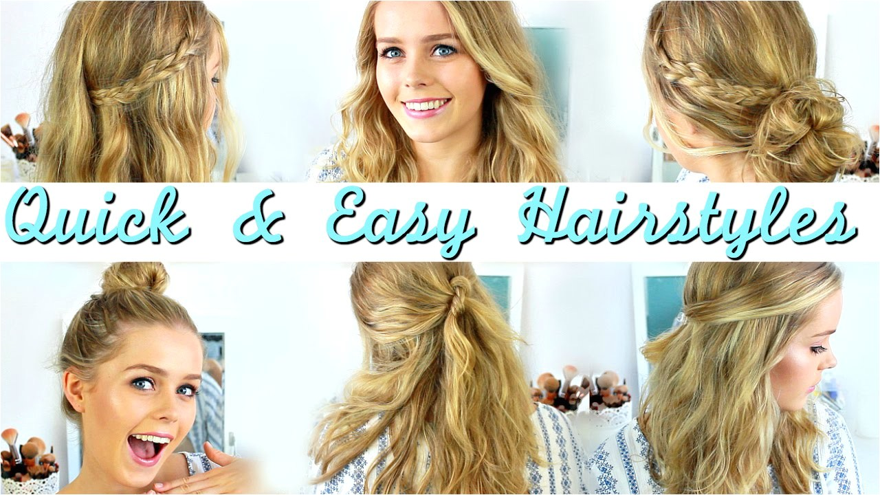 quick and easy hairstyles for medium length hair quick easy heatless hairstyles how to style medium length hair