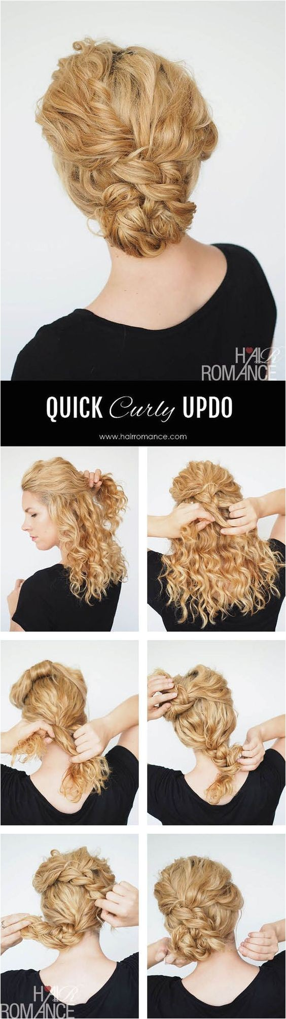 quick updo for natural curly hair