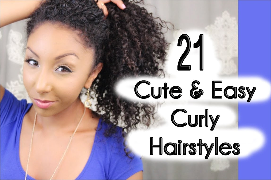 Quick and Easy Hairstyles for Short Curly Hair 21 Cute and Easy Curly Hairstyles