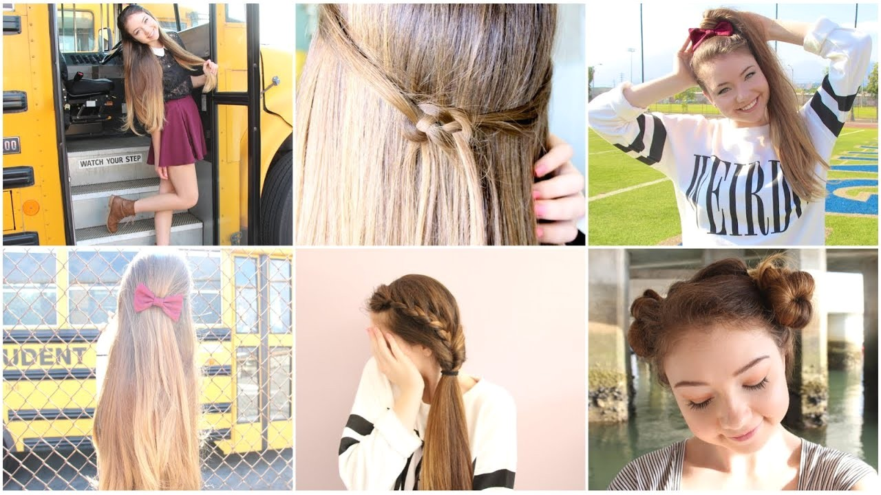 Quick and Easy Hairstyles for Short Hair for School 5 Quick N Easy Back to School Heatless Hairstyles